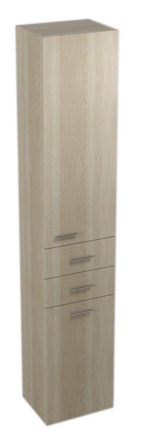 ZOJA/KERAMIA FRESH skříňka vysoká s košem 35x184x29cm, pravá, dub platin 51237