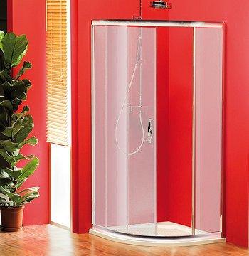 SIGMA čtvrtkruhová sprchová zástěna 900x900mm, R550, 1dveře, sklo Brick SG3159