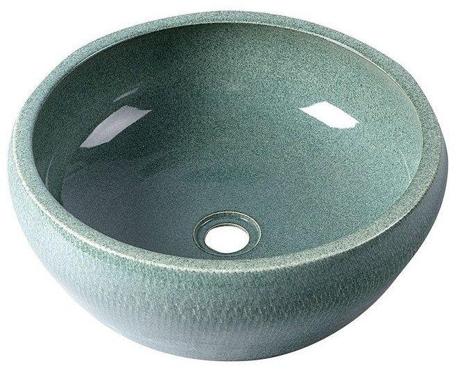 PRIORI keramické umyvadlo, průměr 42cm, zelená PI013
