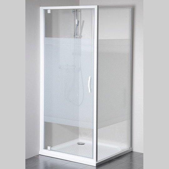 Eterno čtvercový sprchový kout 800x800mm L/P varianta, sklo Strip GE6680GE3380
