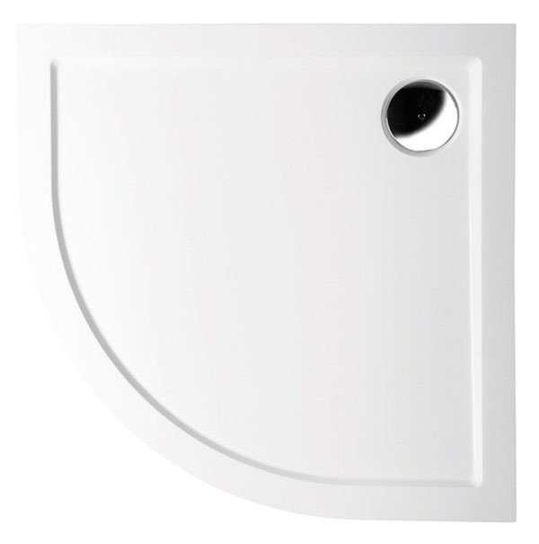 SERA vanička z litého mramoru, čtvrtkruh 80x80x4cm, R550 40511