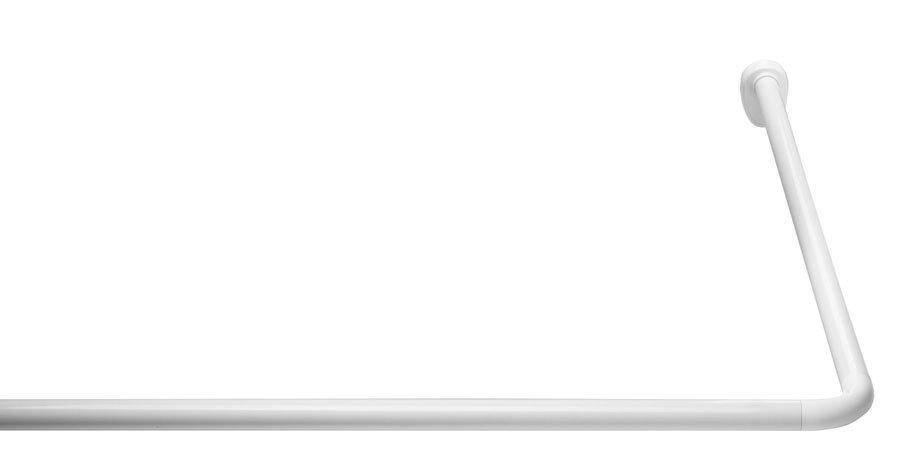 Rohová univerzální sprchová tyč, bílá 59501