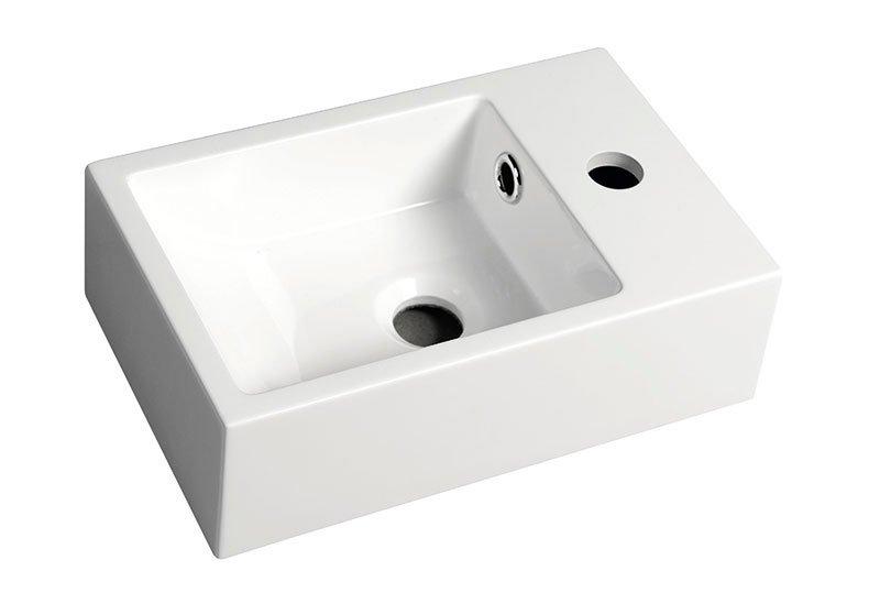 ALABAMA Umývátko z litého mramoru, 36x11x23cm pravé, bílá AL565