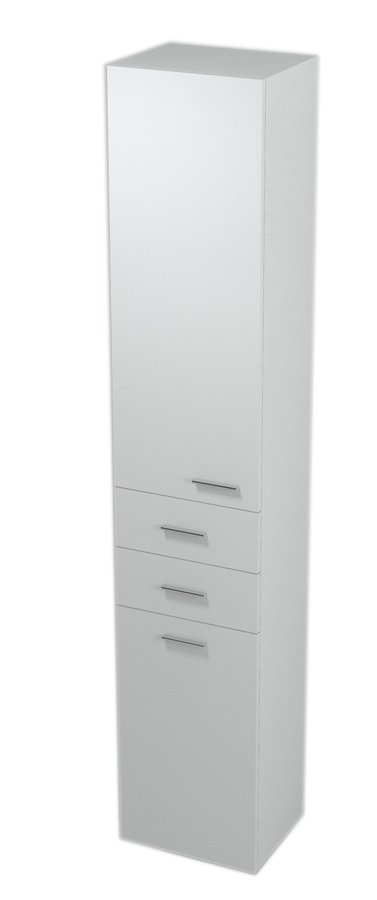 ZOJA/KERAMIA FRESH skříňka vysoká s košem 35x184x29cm, levá, bílá 51230