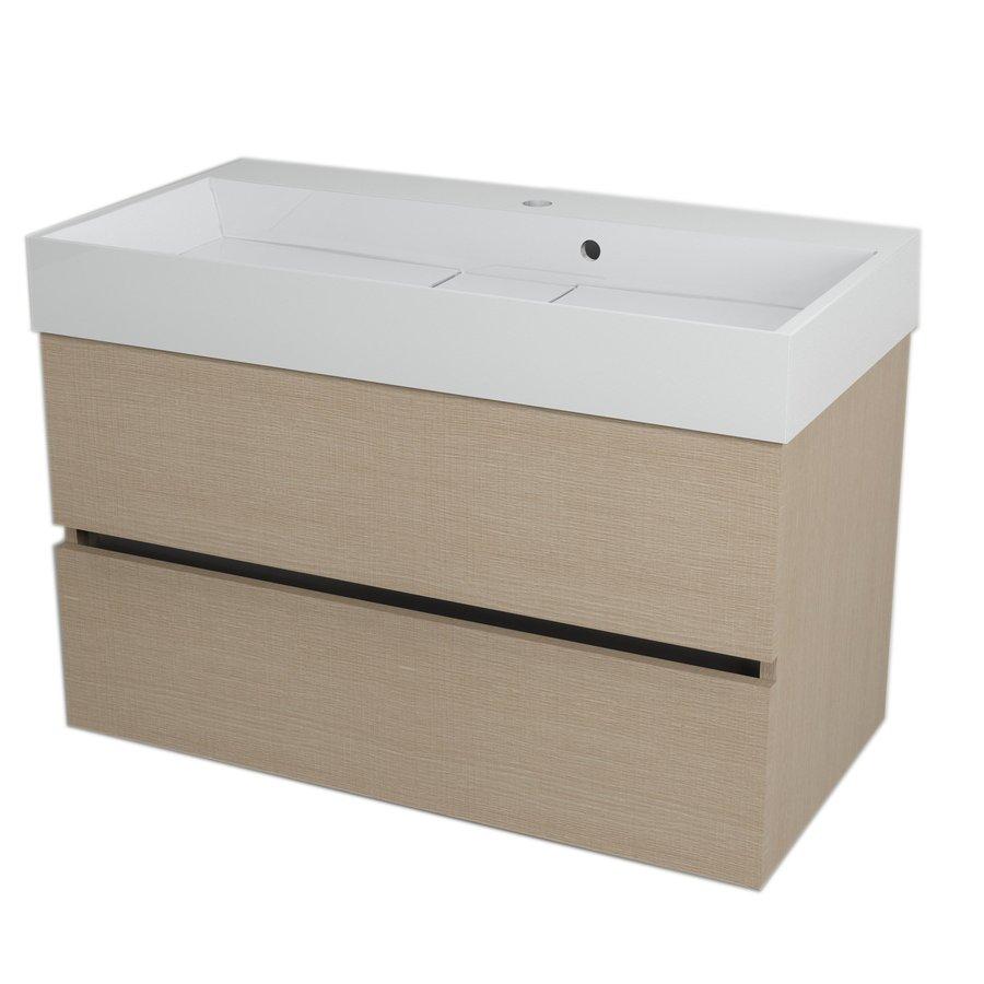 LARGO umyvadlová skříňka 89x50x45cm, dub benátský LA904