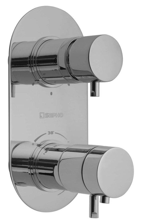 RHAPSODY podomítková sprchová termostatická baterie, 3 výstupy, chrom 5592T