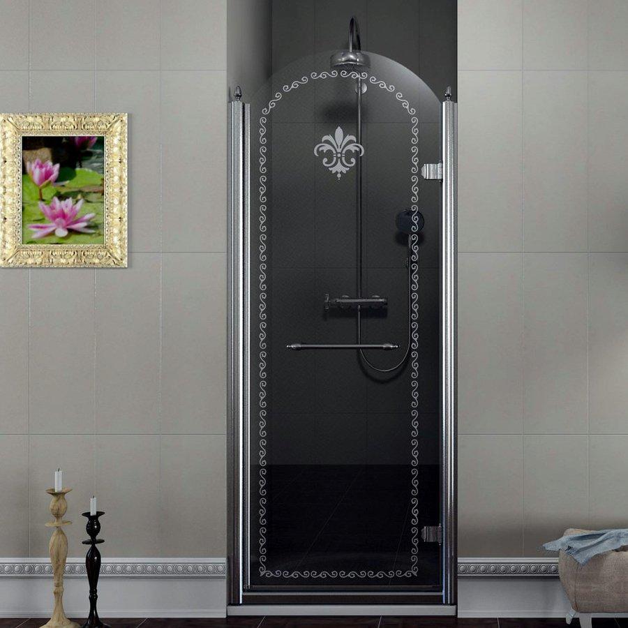 ANTIQUE sprchové dveře 800mm, pravé, čiré sklo s dekorem, chrom GQ1680R