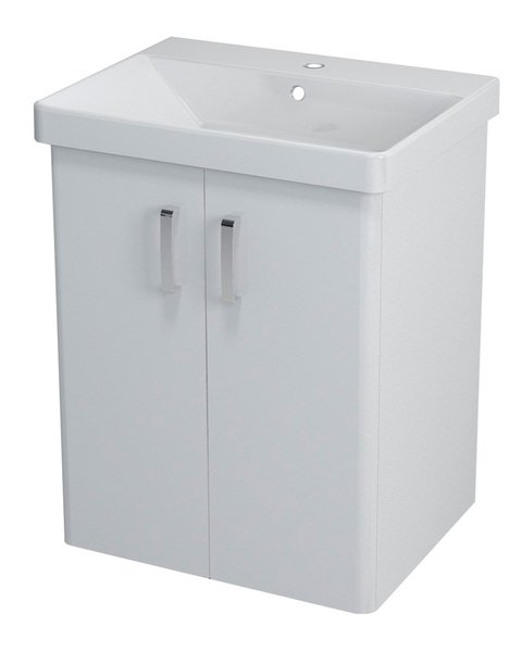 THEIA umyvadlová skříňka 56,4x70x44,2cm, 2xdvířka, bílá TH062