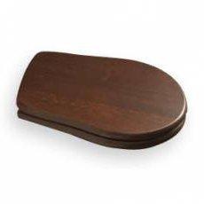 RETRO WC sedátko, dřevo masiv, ořech/chrom 109040