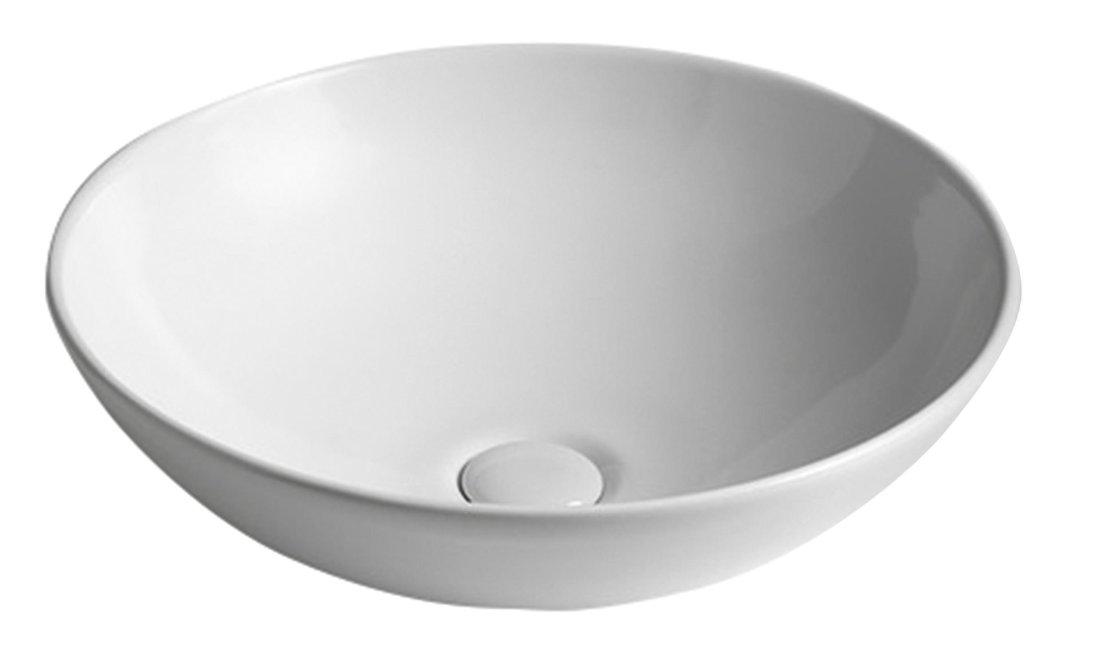 DIMP keramické umyvadlo, průměr 46 cm, na desku, bez přepadu W060701