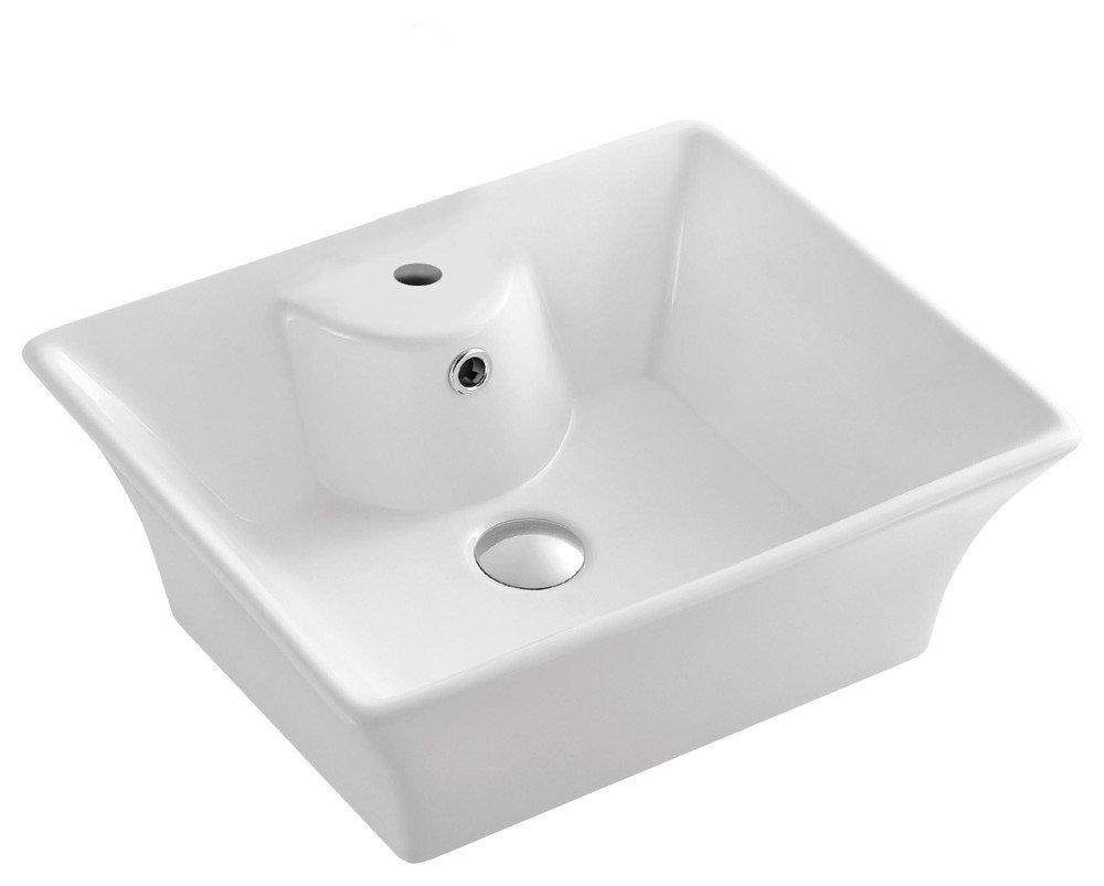 Keramické umyvadlo 49,5x41,5x19,5 cm, na desku 49411