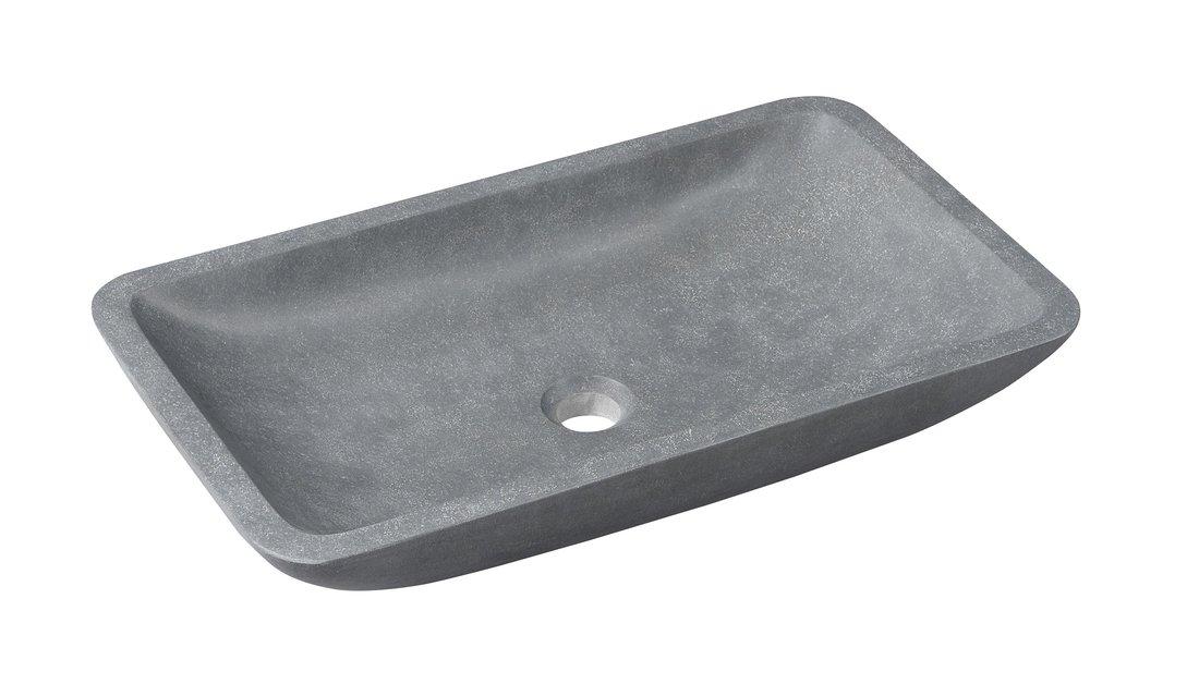 BLOK kamenné umyvadlo 60x35x11 cm hranaté, Andezit, matný kámen 2401-17