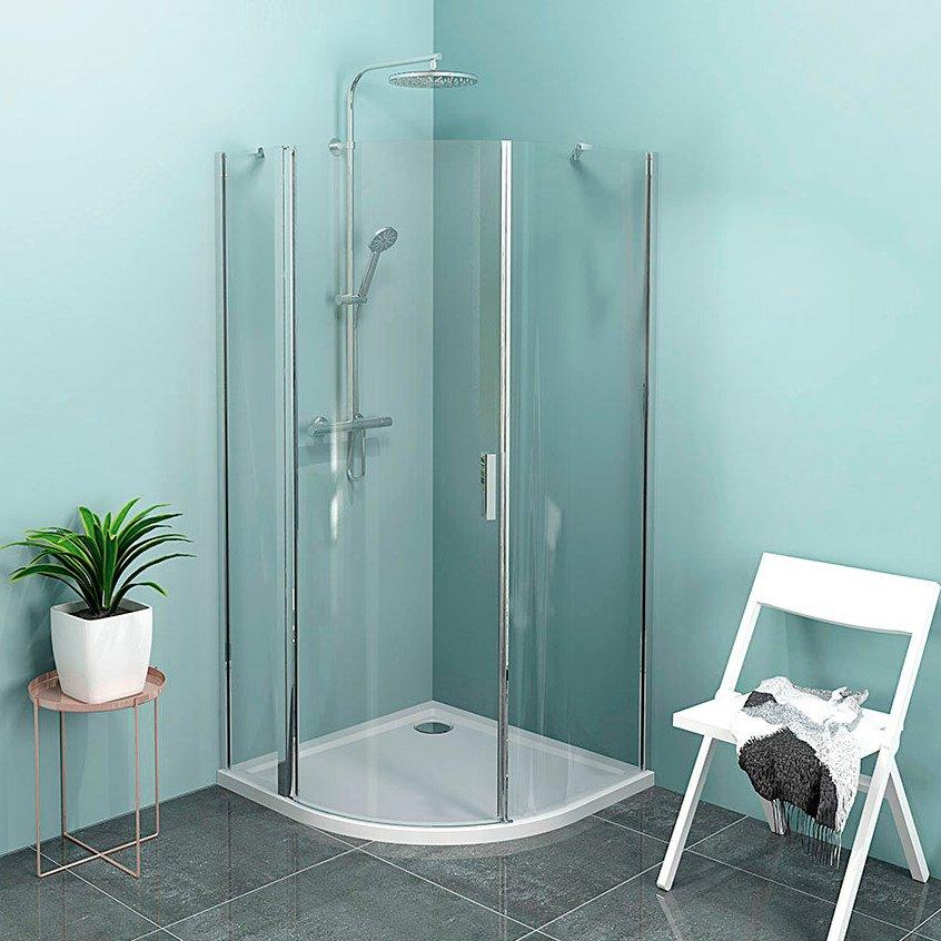 ZOOM LINE čtvrtkruhová sprchová zástěna 900x900mm, čiré sklo, levá ZL2615L