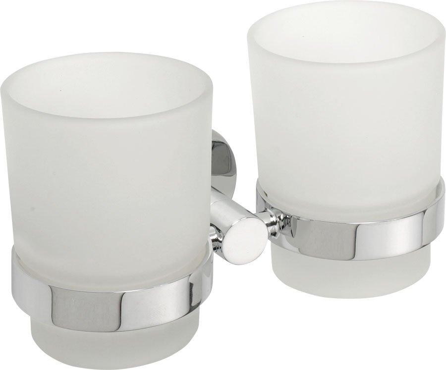 OMEGA dvojitý držák skleniček, chrom 104110022