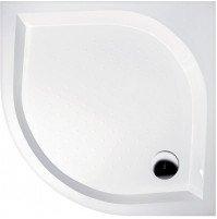BETA90 sprchová vanička z litého mramoru, čtvrtkruh 90x90x25cm, R550 GB559H