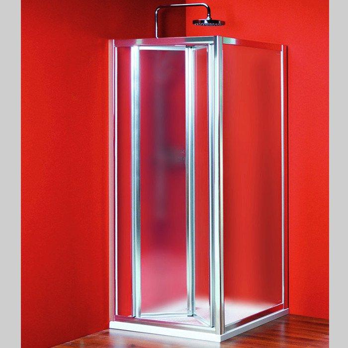 Sigma čtvercový sprchový kout 800x800mm L/P varianta, skládací dv.,sklo Brick SG3848SG3678