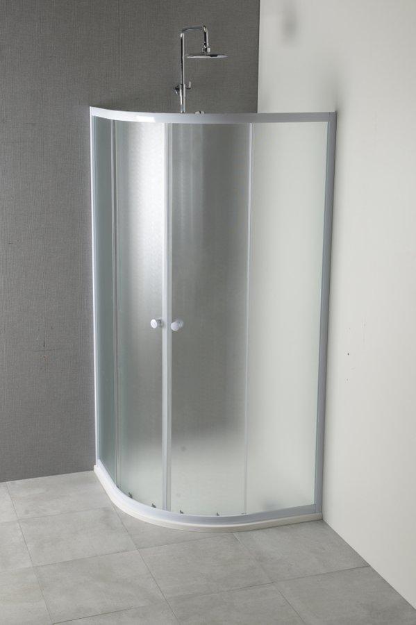 ARLEN čtvrtkruhová sprchová zástěna 900x900 mm, matné sklo Brick YR900