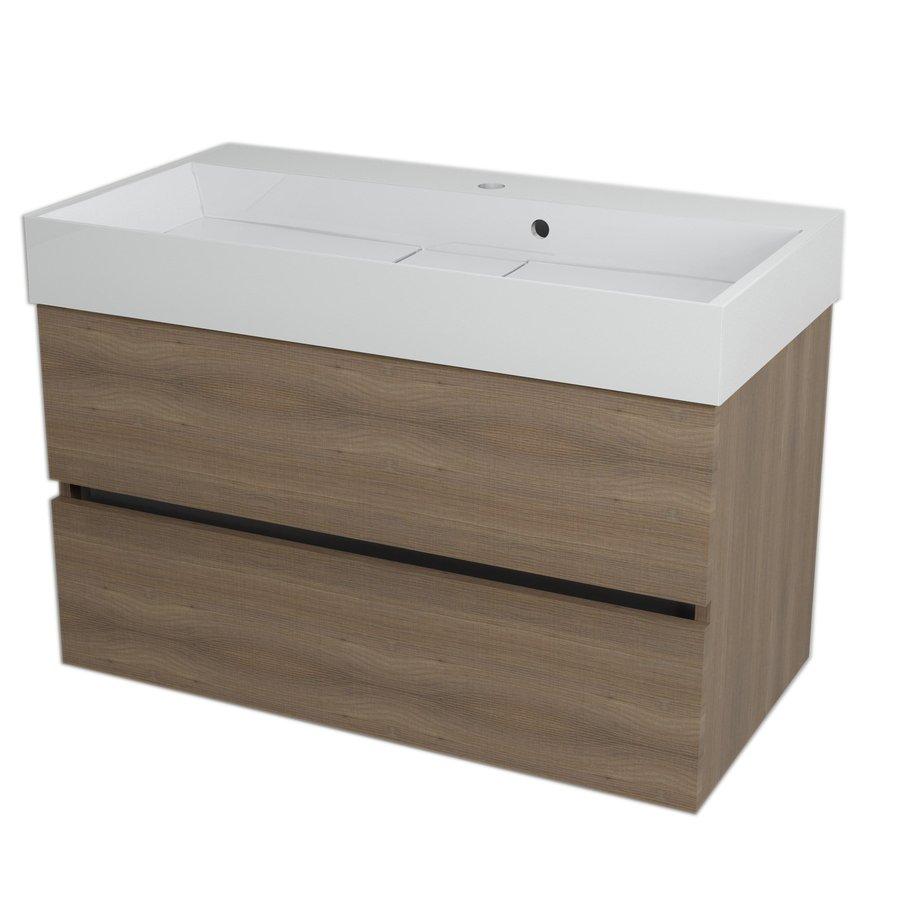 LARGO umyvadlová skříňka 89x50x45cm, ořech bruno LA903