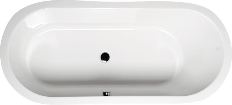 ASTRA O oválná vana s podstavcem 165x75x48cm, bílá 35611