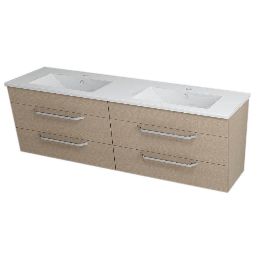 KALI umyvadlová skříňka s umyvadlem 150x50x46 cm, dub benátský 2X560781601-150