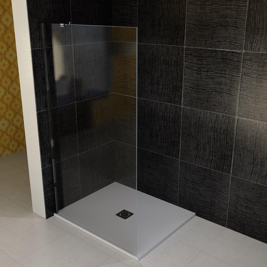 VITRA LINE boční stěna 1055mm, levá, čiré sklo BN7415L
