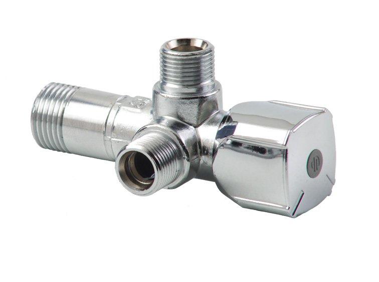 """ARCO kombinovaný rohový ventil A-80 se dvěma vývody 1/2""""x3/8""""x3/8"""", anticalc A80 TWIN MAC"""