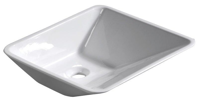 EDGE keramické umyvadlo 44x16x44cm, na desku, bez přepadu 26100301