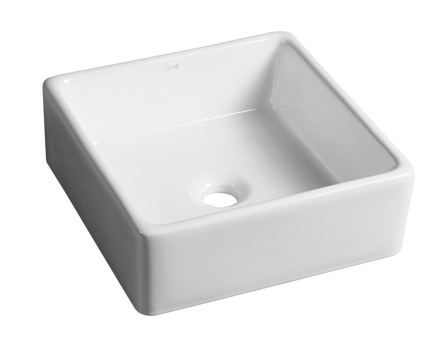 UBEGA keramické umyvadlo 38x13,5x38 cm, na desku BH7006