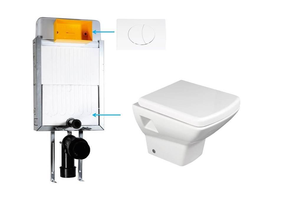 WC-SADA-12 závěsné WC SOLUZIONE s podomítkovou nádržkou pro zazdění WC-SADA-12