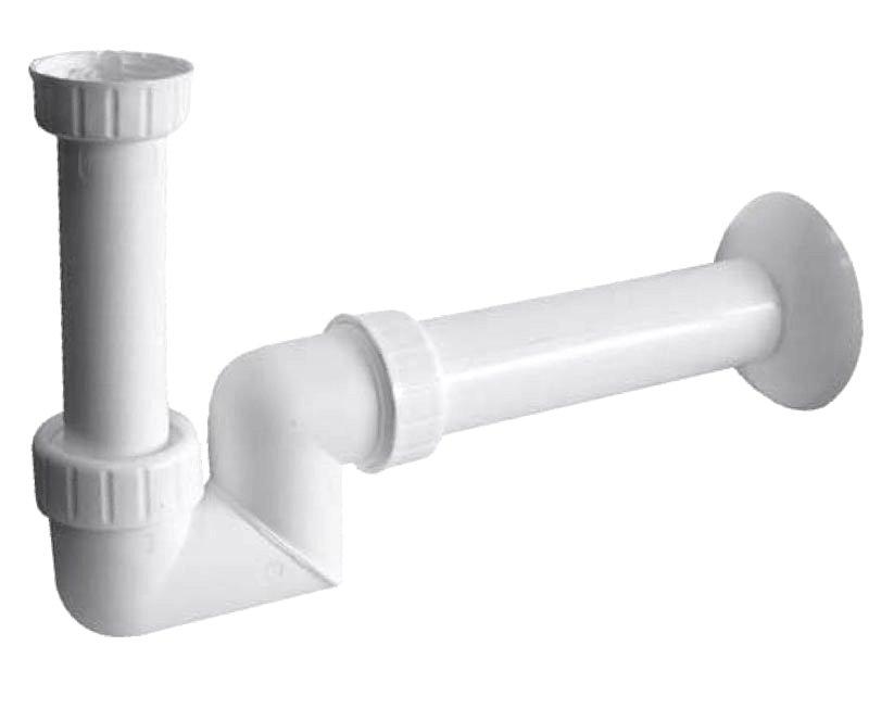 """Umyvadlový sifon 1\""""1/4 nízký, odpad 40mm, bílá CV1025"""