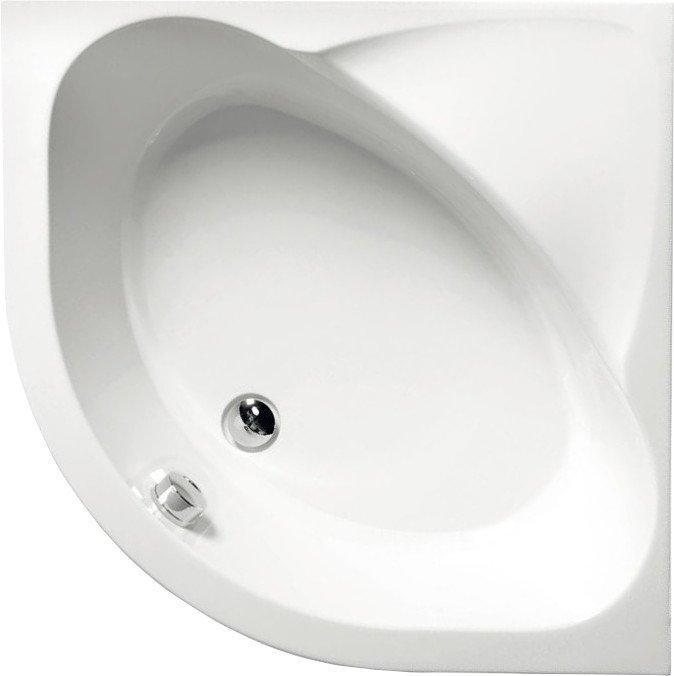SELMA sprchová vanička čtvrtkruhová 90x90x30cm, R55, hluboká, bílá s podstavcem 28611