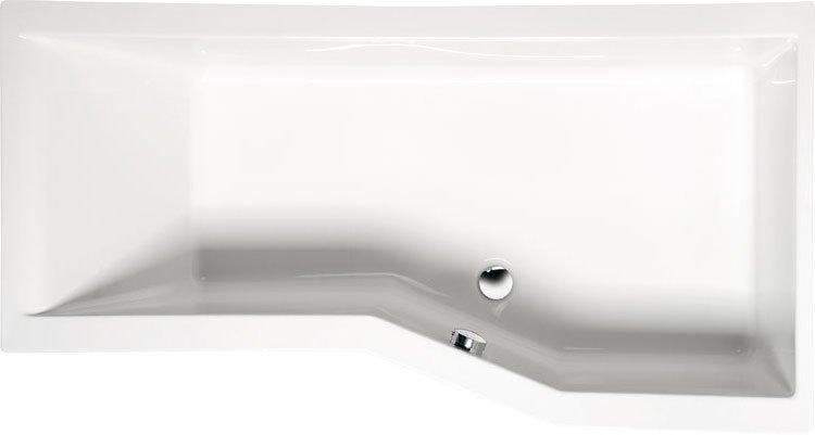 VERSYS R asymetrická vana s podstavcem 160x85x70x47cm, pravá, bílá 15611
