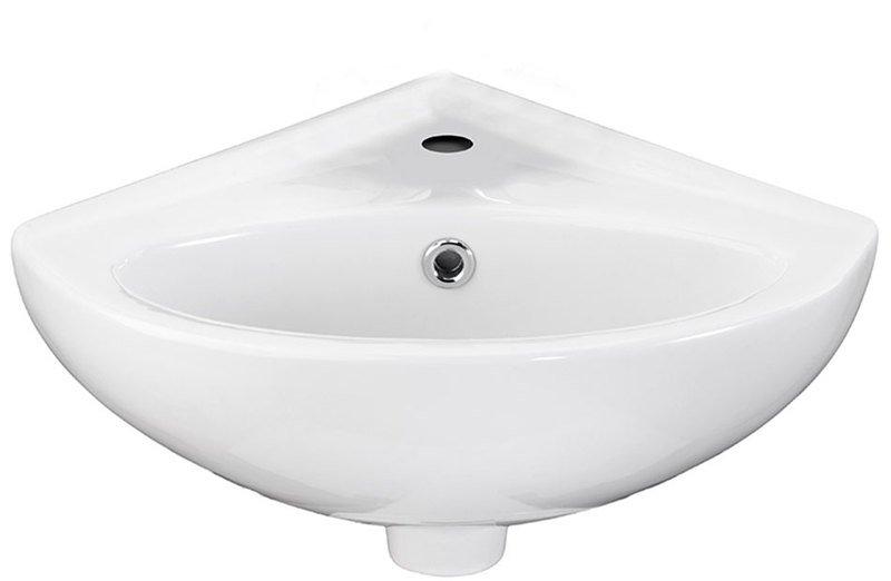 LUIGI keramické rohové umývátko 34x34cm, bílá FS161