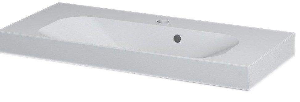 JOY umyvadlo 80x37cm, litý mramor, bílé FDT-837