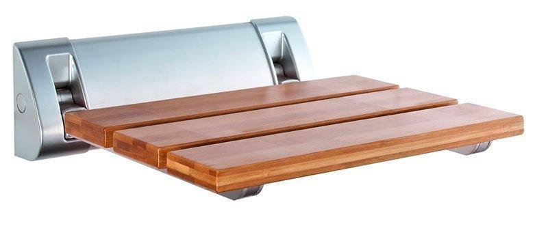 Sprchové sedátko 32x23cm, sklopné, bambus AE236