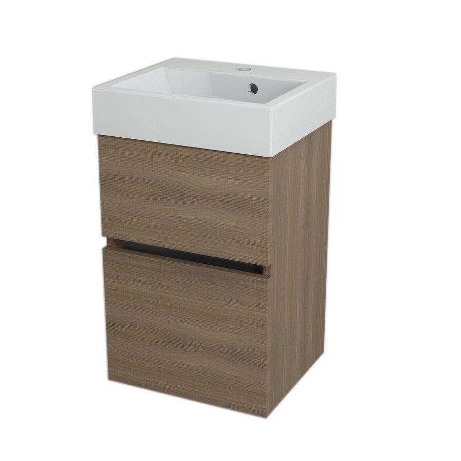 LARGO umyvadlová skříňka 41x60x35cm, ořech bruno LA423