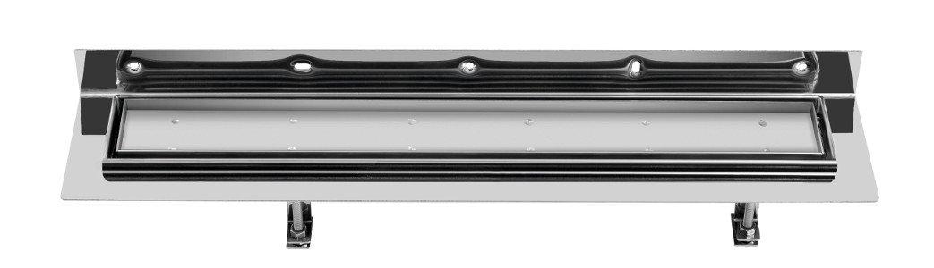 CORNER 77 nerezový kanálek s roštem pro dlažbu, ke zdi 770x130mm FP513