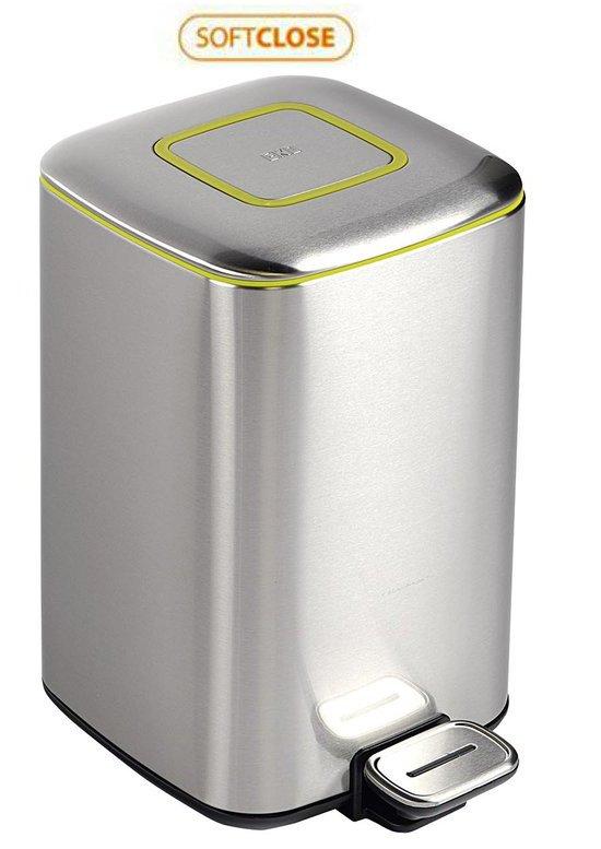 REGENT Odpadkový koš 32l, Soft Close, broušená nerez, stříbrná DR303