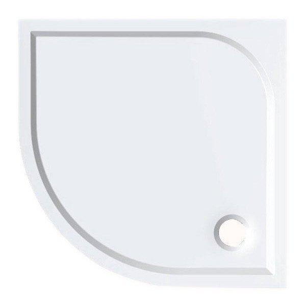 SEMI 90 sprchová vanička z litého mramoru, čtvrtkruh 90x90x3 cm, R55 HQ559R