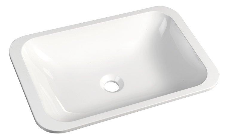 JAPURA umyvadlo 55x36 cm, litý mramor, bílá, zápustné 50135