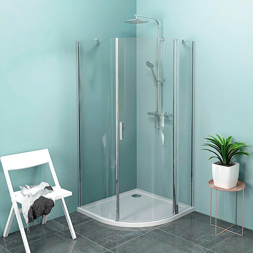 ZOOM LINE čtvrtkruhová sprchová zástěna 900x900mm, čiré sklo, pravá ZL2615R