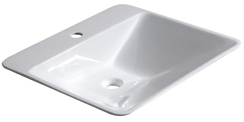 EDGE keramické umyvadlo 59x16x54cm, na desku, bez přepadu 26130101