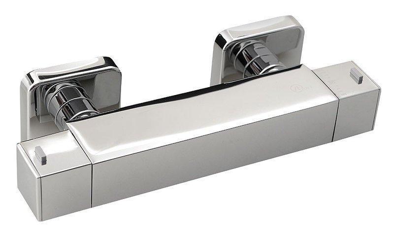 UNA nástěnná sprchová termostatická baterie, chrom UN57155