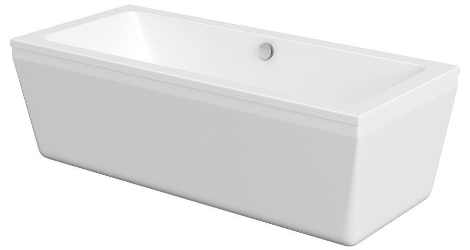 ODRA volně stojící vana, hranatá, 180x80x55 cm, bílá OD180