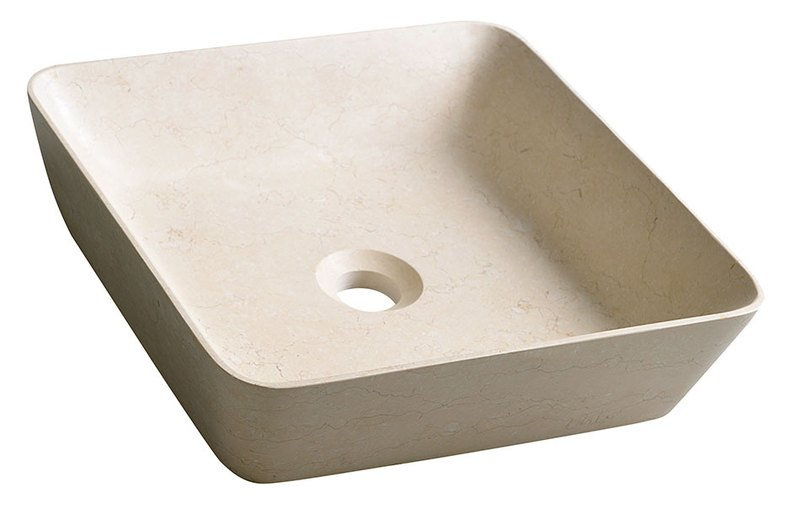 BLOK 14 kamenné umyvadlo 40x40x10cm, Galala, matný kámen 2401-16