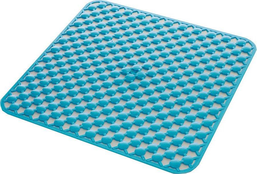 GEO podložka do sprchového koutu 53x53cm s protiskluzem, kaučuk, modrá 97535311