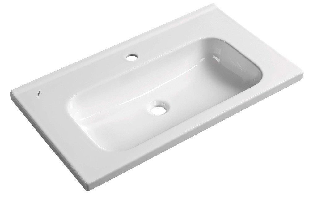 IDEAL keramické umyvadlo bez přepadu 80x45 cm ID080