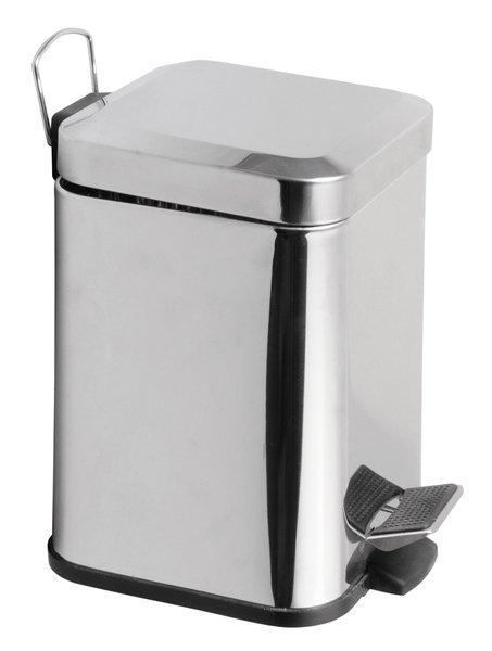 SIMPLE LINE odpadkový koš hranatý 3l, leštěná nerez GAQ003