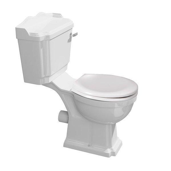 ANTIK WC kombi, mísa+nádržka+splachovací mechanismus+PP sedátko, bílá/chrom AK104