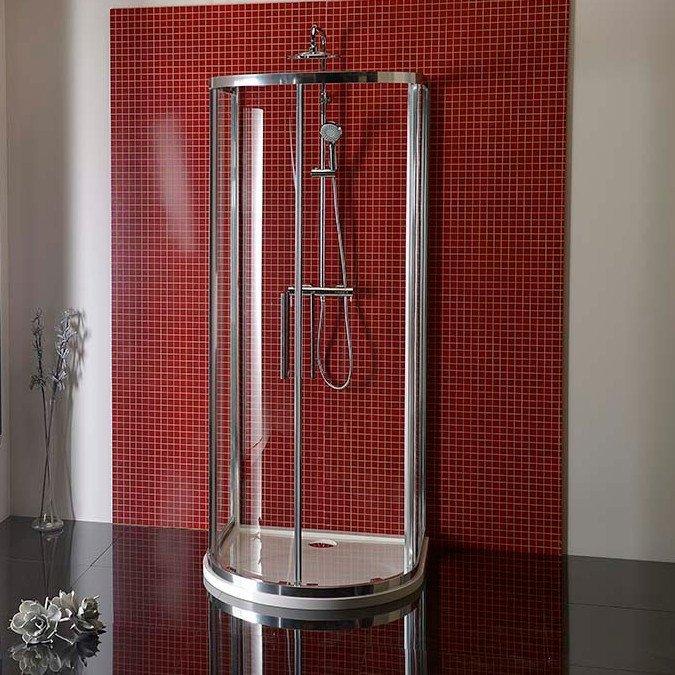 LUCIS LINE půlkruhová sprchová zástěna 1000x1000mm, čiré sklo DL3715